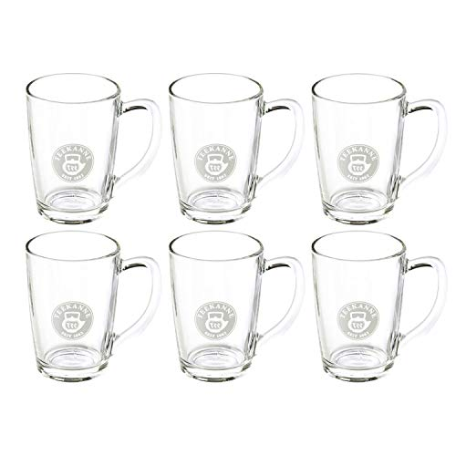 TEEKANNE TEALOUNGE System Henkel, 6er Set Teegläser, Glas, transparent, 8 x 11.5 x 11 cm, 6-Einheiten -