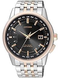 Citizen Herren-Armbanduhr RADIO CONTROLLED Analog Quarz Edelstahl beschichtet CB0156-66E