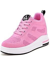 88f8851105f30 AONEGOLD® Scarpe con Zeppa Interna Donna Scarpe da Ginnastica Basse  Sportive Fitness Sneakers Zeppa Interna