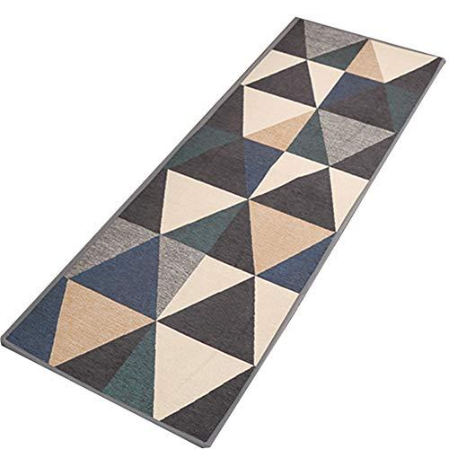 GHGMM Teppich Fußmatten, Rechteck Einfach modern Haushalt Wasseraufnahme Rutschfeste Matte, Passend für Küche Wohnzimmer Schlafzimmer Badezimmer,D,50 * 180cm