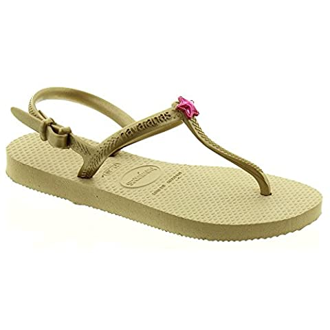 Havaianas Girls Kids Freedom Shoe and Boot Toe Guards, Gold,