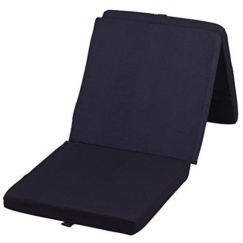 xL pliant certifié ökotex-standard 195 x 80 x 10 cm, couleur au choix, noir, 195x80x10cm