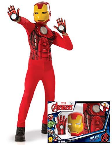 Generique - Iron Man-Kinderkostüm Marvel-Lizenz-Verkleidung rot-gelb 116/128 (7-8 Jahre)