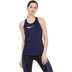 Nike W NP All Over Mesh maglie senza maniche, donna, Donna, W Np All Over Mesh, Ossidiana/Bianco, XS