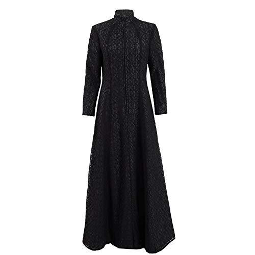 Berühmte Charaktere Kostüm - Zhangjianwangluokeji Damen Schwarz Lang Kleid Berühmt Film-Charakter Kleid Cosplay Kostüm (XS)
