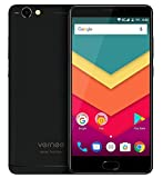 Vernee Thor Plus - 5,5 Zoll AMOLED Bildschirm 4G Android 7.0 Smartphone, 6200mAh Akku in 7,9mm sichtbare Dicke, Octa Core 3GB RAM 32GB ROM, Full Metal Body, 8MP + 13MP Kamera, - Schwarz