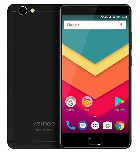 Vernee Thor Plus - 5,5 Zoll AMOLED Bildschirm 4G Android 7.0 Smartphone, 6200mAh Akku in 7,9mm sichtbare Dicke, Octa Core 3GB RAM 32GB ROM, Full Metal Body, 8MP + 13MP Kamera, - Schwarz - Dual-full Metal