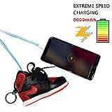 FRUZAZ 8000 mAh Mobile Power Creative Fashion Sports Schuhe Pendant Schmuck Buckle Portable Mobile Smart Phone Mobile Power für iPhone und Android,Red
