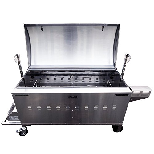 Tasty Trotter Hog Roast Oven - CE approved - Adjustable twin burners - Spark Ignition - Includes 6 stainless steel roasting/carving trays