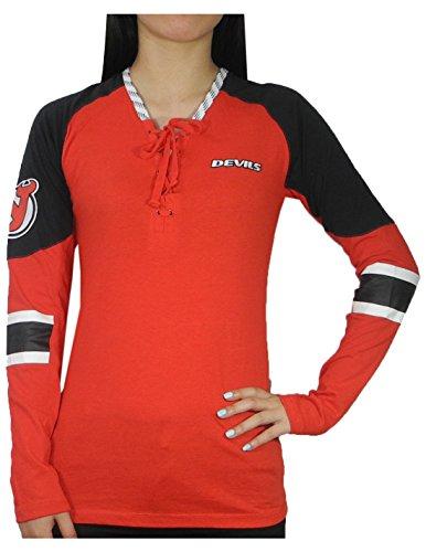 PLUS Größe Damen New Jersey Devils Athletic Long Sleeve Spiel Tag Shirt, damen, mehrfarbig
