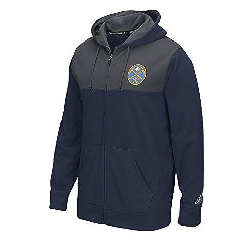 Denver Nuggets Adidas 2016 NBA Tip-Off Men's Climawarm Hooded Sweatshirt
