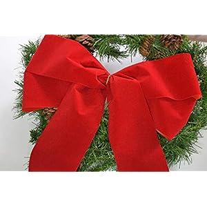 40 cm grosse rote Fertigschleife, Dekoschleife, Autogeschenkschleife, Schleife für Moped, Fahrrad, Paket – für Advent…