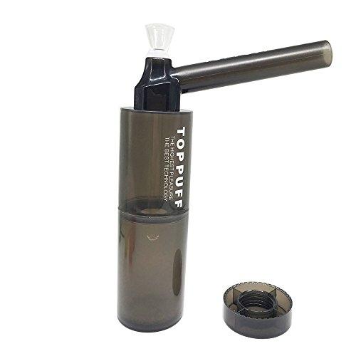 Tubo de agua que fuma de la cachimba de acrílico portable y durable con el color negro transparente...