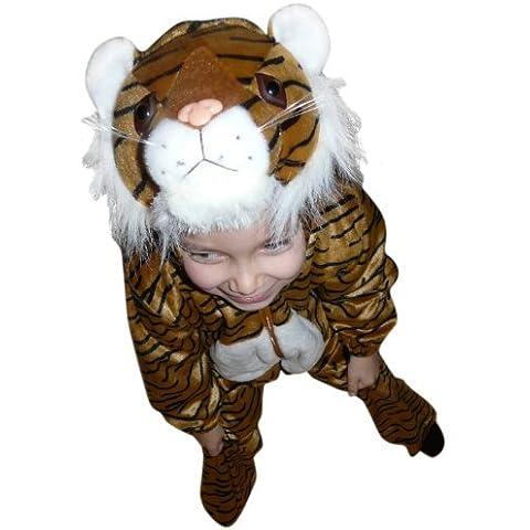 F14 Taglia 4-5A (104-110cm) Costume da tigre per bambini, indossabile