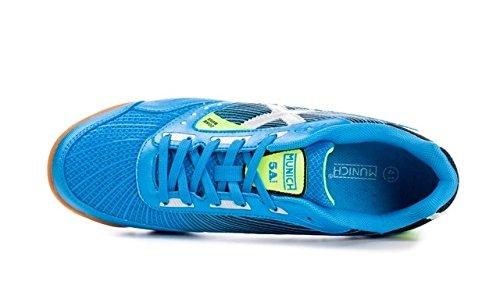 Chaussure de Futsal Munich 5à Side Bleu 310344 bleu ciel