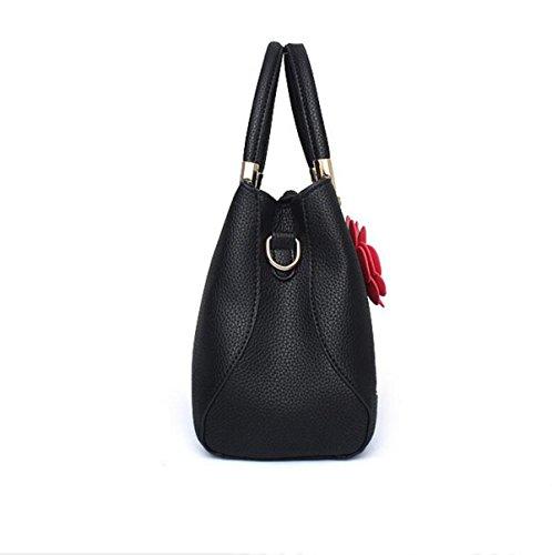 Süße Art Und Weisehandtaschen Kurierbeutel-Schulterbeutelhandtasche Einfaches Art Und Weise Temperament Black