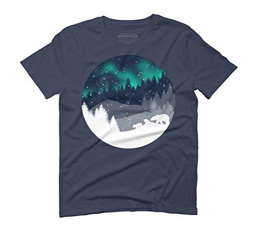 Stardust Horizon Men's Graphic T-Shirt - Design By Humans Navy
