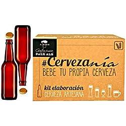 Completo Kit para Fabricar Cerveza Artesana Pale Ale con ingredientes, chapadora, cubo, airlock, termómetro, 16 Botellas con chapas