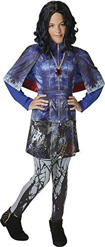Disney Descendants- Disfraz de lujo, Evie, Azul (Blue Print), Grande