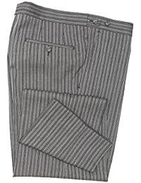 Masterhand Classics Cuthose Anthrazit Gestreift Comfort Fit normaler Schnitt 100% Schurwolle Hose Cone