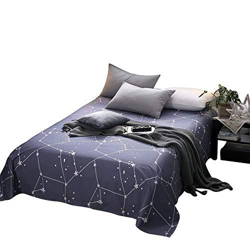 Liuliangmei 100% Baumwolle Starry Sky Reactive Printing Kühle Bettwäsche, Keine Falten Weiche Bettwäsche Größe: 120 X 230 cm, 160 X 230 cm, 180 X 230 cm, 200 X 230 cm, 230 X 280 cm,2X2.3m