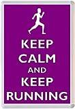Keep Calm and Keep Running - Jumbo Fridge Magnet - Brand New Gift/Present/Souvenir