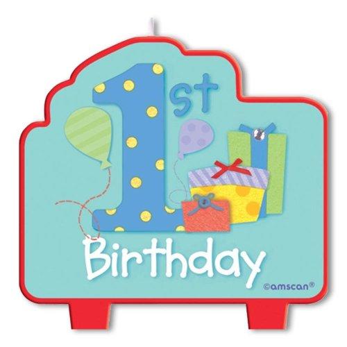 Bougie moulée spéciale 1er anniversaire garçon 0048419603931