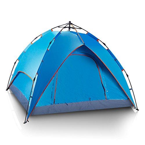 ROVATE® 240x200x140cm Sekundenzelt mit Quick-Up-System Outdoor Doppelschicht Zelt für 3 bis 4 Personen