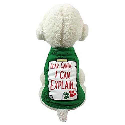 BIGBOBA Niedlich Hund Kleidung Weihnachten Hundebekleidung Hundemantel T-Shirt Pet Supplies Kleidung Hunde Kleidung ()