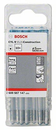Bosch Professional Mehrzweckbohrer CYL-9 Multi Construction (10 Stück, Ø 5 mm)