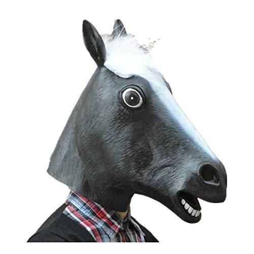 Kostüm Fahrrad Pferd - Sulifor Pferdemaske Halloween Maske Latex Tiermaske Pferdekopf Pferd Kostüm Halloween Party Pferd Latex Maske