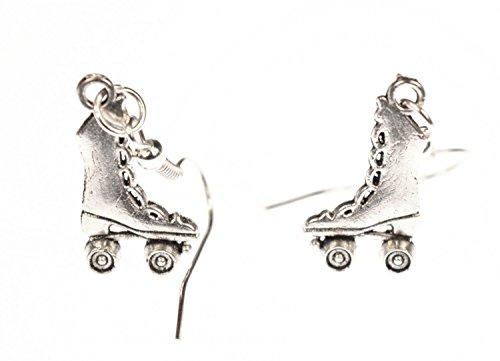 Rollschuh Stiefel Ohrringe Ohrhänger Miniblings Rollschuhe Skates hoch silber