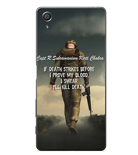 YuBingo Sony Xperia X :: Sony Xperia X Dual F5122 2D Designer Phone Back Case Cover ( Soldier with a gun )  available at amazon for Rs.453