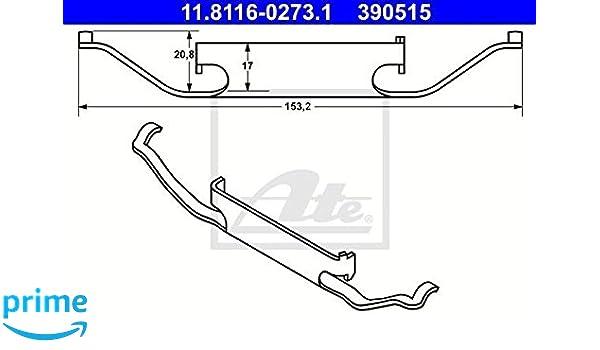 ATE 11.8116-0296.1 Bremssattelfeder für BMW