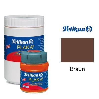 Pelikan Plaka-Farbe, 50 ml, Braun [Spielzeug]