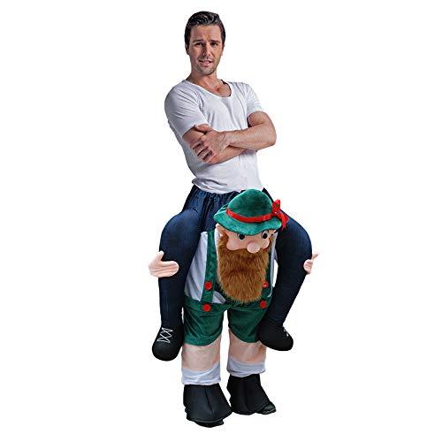 Bearded Herren Kostüm - TIKENBST Halloween Aufblasbare Kleidung Aufblasbare Magic Pants Aufblasbare Kleidung Cosplay Magic Pants Animal Back Man Mount Weihnachten Halloween Kostüm Requisiten
