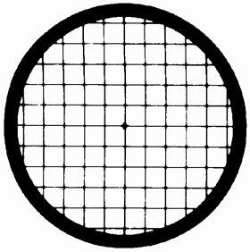 Veco Square Mesh Center Reference Grid 100 mesh, Copper, 250 µm, 100/VL