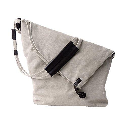 Vrikoo Retro Canvas Hobo Bag Unisex Vintage Borsa A Tracolla Messenger Per La Scuola Commerciale (blu) Beige