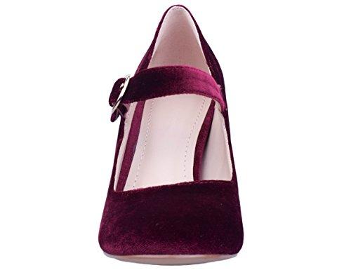 Greatonu Chaussures Femme Escarpins EU 36-41 Bordeaux