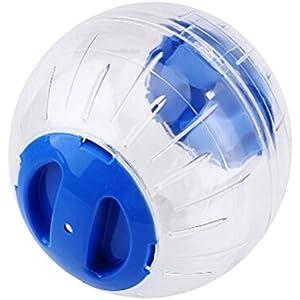 UEETEK Transparenter netter Haustier-Hamster-Übungs-Ball Mini Trot Plastikspielwaren (blau)