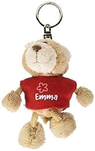 NICI n15797-Llavero Oso con Camiseta Emma, Rojo