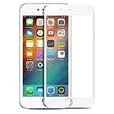Microcase iPhone 7 Plus Tam Kaplayan Çerçeveli Tempered Ekran Koruyucu - Beyaz
