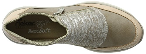 Rieker Damen L3254 Slipper Grau (rose/steel/Silber / 31)