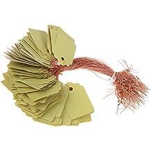 PRIMI Langlebig Pflanze Kunststoff Marker Label Little Tool Garten-Zubehör (gelb)