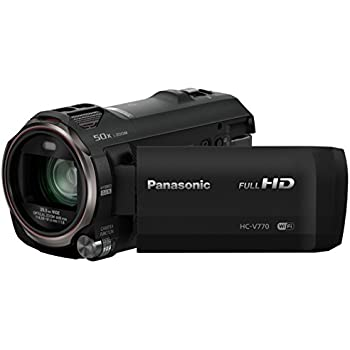 Panasonic HC-V770EB-K Full HD Camcorder with Wireless Twin Camera (20x Optical Zoom)