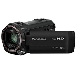 Panasonic HC-V770EB-K Full HD Camcorder with Wireless Twin Camera (20x Optical Zoom)