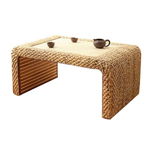 Tables De Lit Tatami Basse Basse À La Maison Lit en Bois Massif D'étude Balcon Baie Fenêtre Basse Basse (Color : Blanc, Size : 60 * 35 * 30cm)