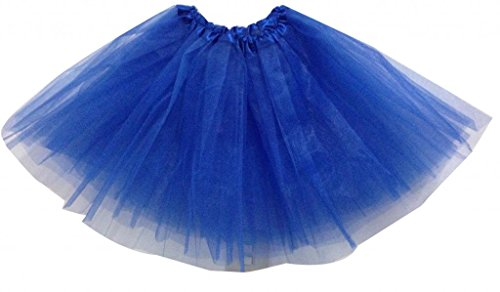 Hotportgift Damen Ballon Kleid Blau K?nigsblau One Size (Rock Blau Royal)