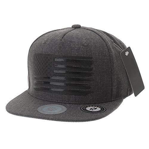 WITHMOONS Baseballmütze Mützen Caps Kappe Baseball Cap Star and Stripes American Flag Hat KR2305 (Charcoal, L) - Obey-mütze