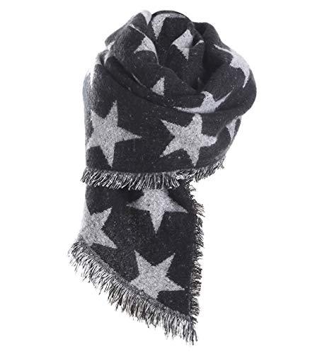 19d7a2dea641ba Superora Sciarpa Donna in Cachemire Caldo Spesso Motivo Stella Scialle  Stole con Nappa Autunno Invernale